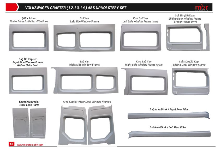 FORD TRANSIT EXTRA LONG MODEL ABS UPHOLSTERY SET