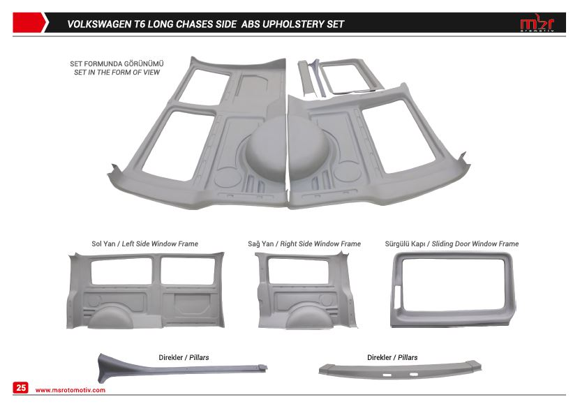 VOLKSWAGEN T6 LONG CHASES SIDE UPHOLSTERY SET