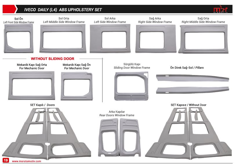 IVECO DAILY LONG ABS UPHOLSTERY SET